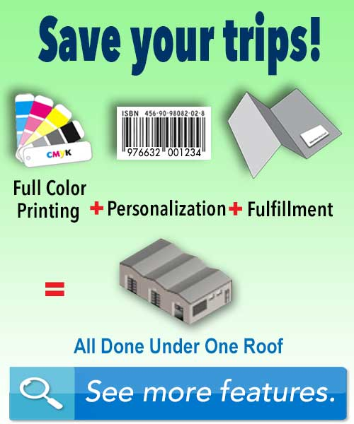 full color printing personalization fulfillment all done under one roof