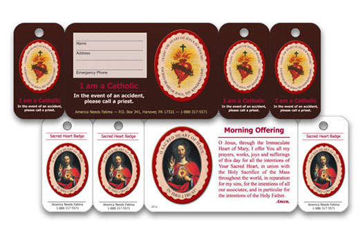 sacred heart card and 3 key tags custom card