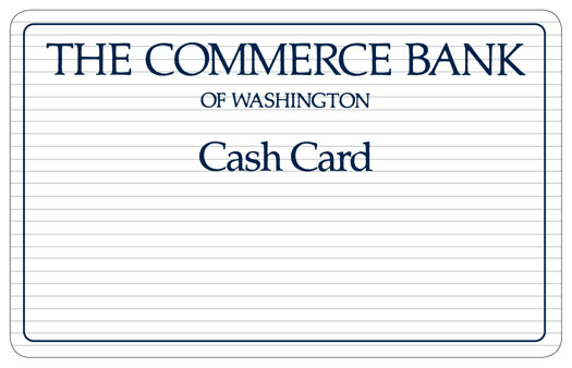 the commerce bank of washington cash card