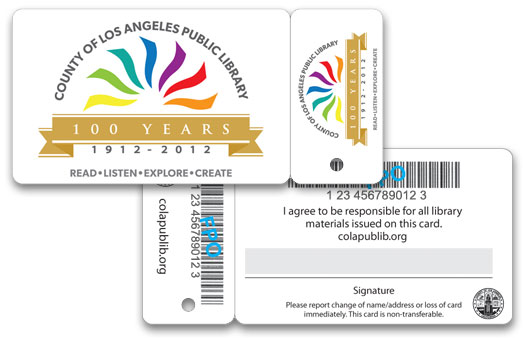 county of los angeles public library card key tag 100 years