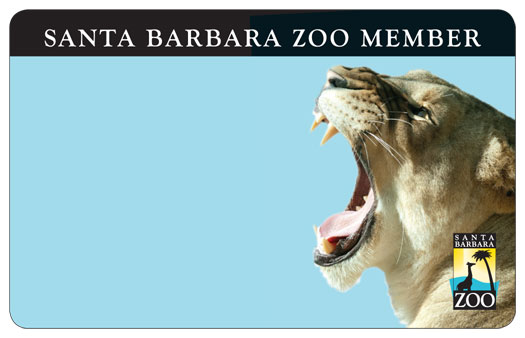 santa barbara zoo member recycled card