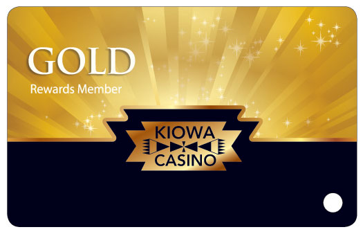 kiowa casino gold rewards member card