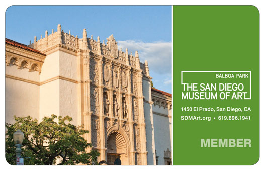 the san diego museum of art member card
