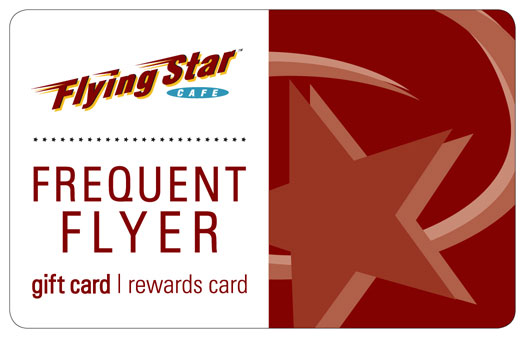 flying star cafe frequent flyer card