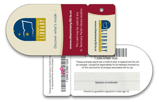 saint tammany parish library card and key tag
