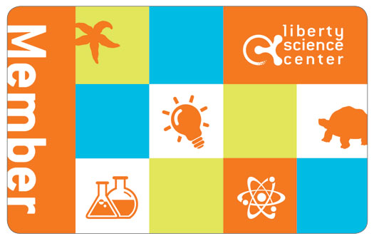 liberty science center member recycled card