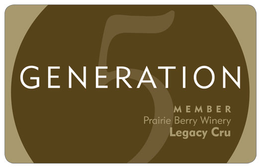 prairie berry winery legacy cru generation 5 member card