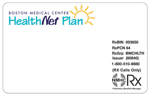 boston medical center healthnet plan health insurance card